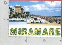 CARTOLINA VG ITALIA - MIRAMARE Di RIMINI - La Spiaggia - 10 X 15 - ANN. 2001 - Rimini
