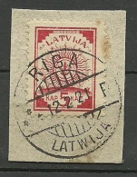 LETTLAND Latvia 1918 Michel 2 O Nice Cancel Riga - Lettonie