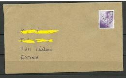 Great Britain 2016 Cover To Estonia Stamp Remained Uncanceled - 1952-.... (Elizabeth II)