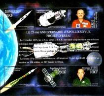 GUINEA 2000 APOLLO-SOYUZ M/S Sc#1866 CV$21.25  MNH ** SPACE EXPLORATION - Other