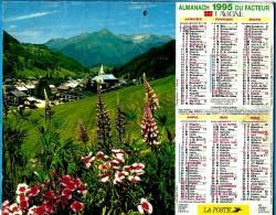 ALMANACH DES P.T.T 1995 (57)  - Complet ** LES GETS (74) - STE MAXIME (83) ** Calendrier * JEAN LAVIGNE * - Calendriers