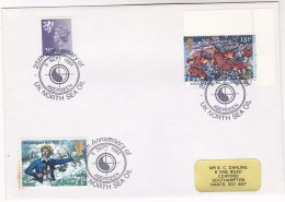 1989 Aberdeen GB Stamps COVER EVENT Pmk UK NORTH SEA OIL 25th ANNIV Minerals Petrochemicals Energy Lion - Oil
