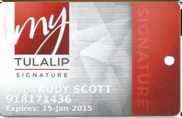 Tulalip Casino Marysville WA - Slot Card - Casino Cards