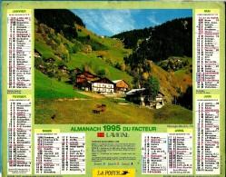 ALMANACH DES P.T.T 1995 (57)  - Complet ** BOUDIN (73) - SCENE RURALE ** Calendrier * JEAN LAVIGNE * - Calendriers