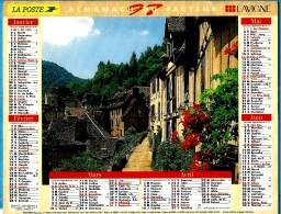 ALMANACH DES P.T.T 1997 (57)  - Complet ** CONQUES (12) - LAC LEMAN (74)** Calendrier * JEAN LAVIGNE * - Calendriers