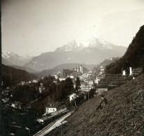 Allemagne Berchtesgaden Alpes Bavaroises Ancienne Photo Stereoscope 1900 - Stereoscopic