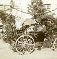 Allemagne Baden Baden Char Decore Ancienne Photo Stereoscope Gustav Salzer 1899 - Photos Stéréoscopiques
