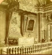 France Versailles Chambre De Louis XIV Ancienne Photo Stereoscope Tissue 1870