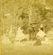 France Scene De Genre Jeux D'Enfants Ancienne Photo Stereoscope 1860 - Stereoscopic