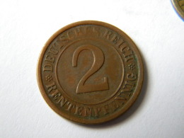 ALLEMAGNE -2 RENTENPFENNIG  1924.A. - [ 3] 1918-1933 : Weimar Republic