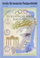 Archiv Für Deutsche Postgeschichte - XI Olympische Spiele - Blick In Die Technik Der Frühen Telefone Berlin 1936 - - Temas