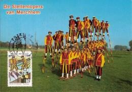 MERCHTEM-STENLOPPERS-ECHASSIERS-CARTE MAXIMUM - Merchtem