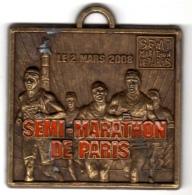 Médaille Semi-Marathon De Paris 2008 : Sans Ruban - Unclassified
