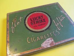 Paquet De Cigarette Métallique /Américain/Lucky Strike /American Tobacco Co/Flat Fifties/ Vers 1950    BFPP58 - Etuis à Cigarettes Vides
