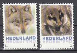 Nederland 2013 Nr 3013-Aa-35 + Aa-13 Zoogdieren Postfris : Wolf + Eikelmuis ; - Neufs