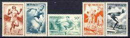 Monaco 1948 Serie N. 319-323 Olimpiadi Di Londra MNH Catalogo € 12 - Monaco