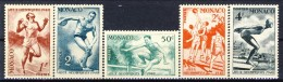 Monaco 1948 Serie N. 319-323 Olimpiadi Di Londra MLH Catalogo € 5,60 - Monaco