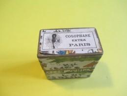 Petite Boite De Colophane Ancienne /Colophane Extra Paris/ Pour Violon /Décorée/Charmante/Vers 1920-1930   PART250 - Objets Dérivés