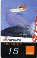 @+ Recharge Orange De La Réunion - Ripcurl Surf 4. Date 12/05