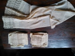 Fijne Vintage Gordijnen, Drie, 100 Cm, - Drapery