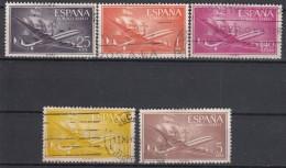 SPANJE - Michel - 1955 - Nr 1057/61 - Gest/Obl/Us - Luftpost