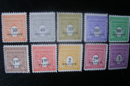 Timbre De France   N° 702/711 ** - Nuevos