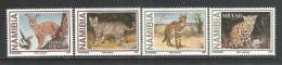 NAMIBIA - 1997 - 4 VALORI NUOVI S.T.L. DEDICATI ALLA PROTEZIONE DELLA FAUNA (PICCOLI FELINI) - IN OTTIME CONDIZIONI. - Namibia (1990- ...)