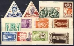 Monaco 1951 Serie N. 353-364 Anno Santo MNH NON DENTELLATI Catalogo € 205 - Monaco