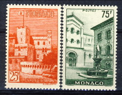 Monaco 1954 Serie N. 397-398 Vedute MLH Catalogo € 9,60 - Monaco