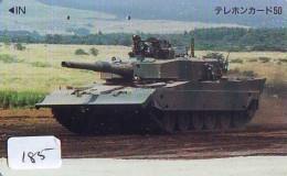 Télécarte JAPON * WAR TANK (185) MILITAIRY LEGER ARMEE PANZER Char De Guerre * KRIEG * JAPAN Phonecard Army - Army
