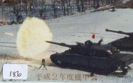 Télécarte JAPON * WAR TANK (186) MILITAIRY LEGER ARMEE PANZER Char De Guerre * KRIEG * JAPAN Phonecard Army - Army