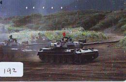 Télécarte JAPON * WAR TANK (192) MILITAIRY LEGER ARMEE PANZER Char De Guerre * KRIEG * JAPAN Phonecard Army - Armée