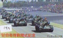 Télécarte JAPON * WAR TANK (193) MILITAIRY LEGER ARMEE PANZER Char De Guerre * KRIEG * JAPAN Phonecard Army - Armee