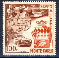 Monaco 1956 N. 441 F. 10 XXVI Rally Di Montecarlo MNH Catalogo € 36 - Monaco