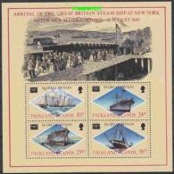 Falkland Islands 1986 Ameripex / Ss Great Britain M/S  ** Mnh (27753) - Falklandeilanden