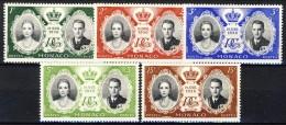Monaco 1956 Serie N. 473-477 Matrimonio Ranieri-Grace MH Catalogo € 2,90 - Monaco