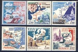 Monaco 1960 - 66 I Valori Di Sei Rally Di Montecarlo MNH Catalogo € 9,70 - Monaco