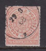 NORDDEUTSCHER POSTBEZIRK, 1866 Cancelled Stamp(s) First Issue, 1/2 Groschen  , MI 3 # 16041 - North German Conf.