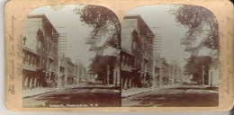 Queen Street, Fredericton, New Brunswick Stereoscope Card - Stereoscope Cards
