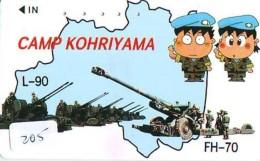 Télécarte JAPON * WAR TANK (205) MILITAIRY LEGER ARMEE PANZER Char De Guerre * KRIEG * JAPAN Phonecard Army - Armee