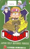 Télécarte JAPON * WAR TANK (208) MILITAIRY LEGER ARMEE PANZER Char De Guerre * KRIEG * JAPAN Phonecard Army - Armee