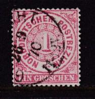 NORD DEUTSCHER POSTBEZIRK, 1869, Used,  Stamp(s) First Issue 1 Groschen, MI 16 #16056, - North German Conf.