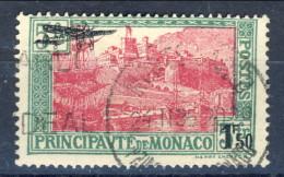 Monaco Posta Aerea 1933 N. 1 F. 1,50 Verde E Rosa-lilla Usato Catalogo € 32 - Posta Aerea