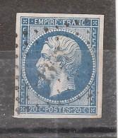 Empire N° 14 B Obl Pc 1397 De GINESTAS , Aude, INDICE 7   , + Variété Taches Blanches TB - 1853-1860 Napoleon III