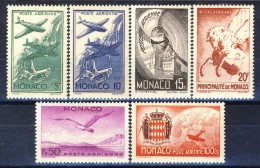 Monaco Posta Aerea 1941 Serie N. 2-7 Simboli MNH Catalogo € 16 - Posta Aerea