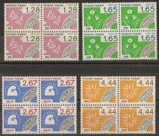 T 00446 - PREOS 1986  N° 190 à 193 Neufs **  En Blocs De 4 Côte 26.00 €