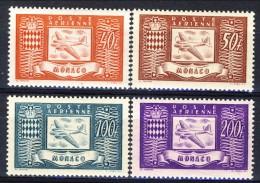 Monaco Posta Aerea 1946 Serie N. 15-18 Aerei E Stemmi MNH Catalogo € 12,50 - Posta Aerea