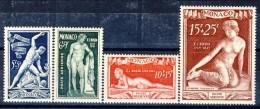 Monaco Posta Aerea 1948 Serie N. 28-31 Scultore Bosio MLH Catalog0 € 65 - Posta Aerea