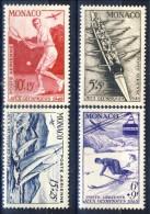 Monaco Posta Aerea 1948 Serie N. 32-35 Olimpiadi Di Londra MVLH Catalogo € 63,50 - Posta Aerea