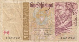 0168 BILLETE PORTUGAL 500 ESCUDOS CIRCULADO - Portugal